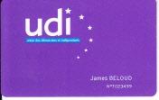Carte UDI James Belaud