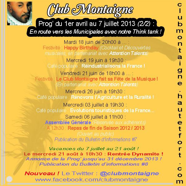 Prog Club Montaigne 2e T 2013 - Twitter 2-2 020513