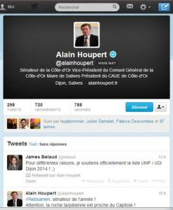 Tweet Alain Houpert 270114