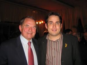 Avec Bernard Depierre, Député de la 1ère Circonscription de Côte d'Or, lors de la soirée cocktail de la JDA