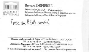 Carte Bernard DEPIERRE 2010