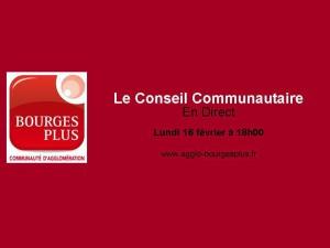 Conseil communautaire 160215