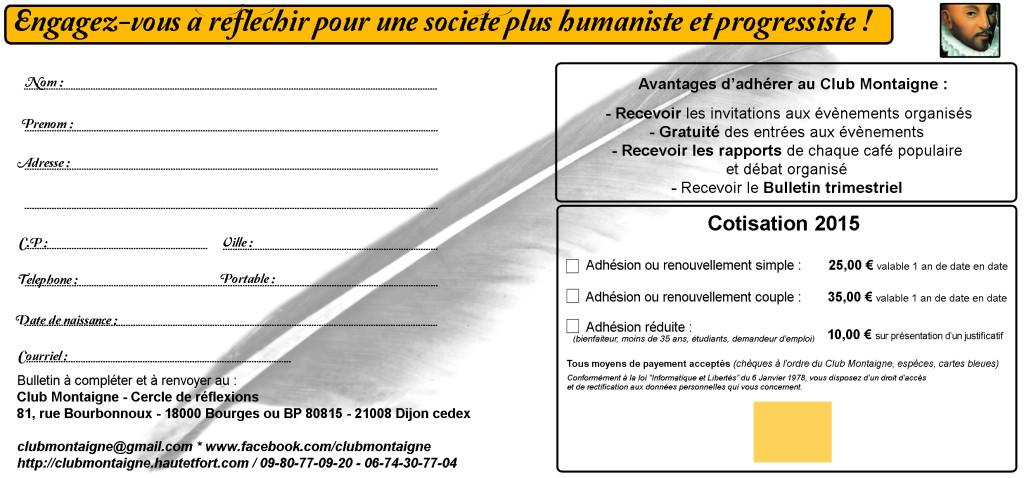 Bulletin adhesion Club Montaigne 2015 160415