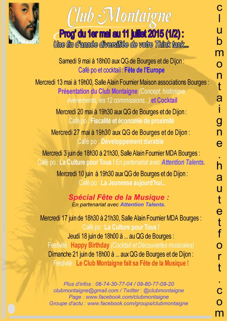 Prog Club Montaigne 2e T 2015 - Flyer 1-2 200415