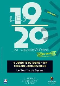 Concert Le Souffle de Syrinx (Flûtes, ensemble Oméga) Théâtree Jacques Coeur 151015 (2)