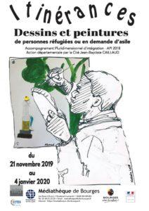 Vernissage exposition Itinérances Médiathèque 271119 (1)