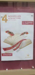Exposition Nouvelles acquisitions Bibliothèque 4 Piliers 040320 (1)